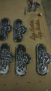 MARINE / BRASS PLAQUES STEP PLA - Restored GOLD or CHROME FINISH