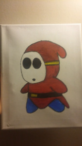 Shy guy sharpi drawing vary good (from super mario)