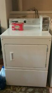Coin operated Maytag commercial washer and (gas) dryer