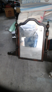 Dress mirror and frame vintage shabby chic