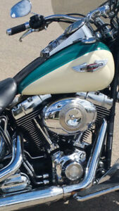 2009 Harley- Davidson Deluxe (teal/cream)