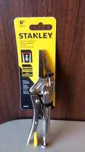 Best deal on Stanley 6 inch Long nose locking pliers (brand new)