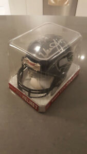 Warren Moon autographed mini helmet