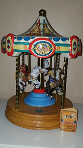 Tobin Fraley Limited Edition 4-Horse Musical Carousel