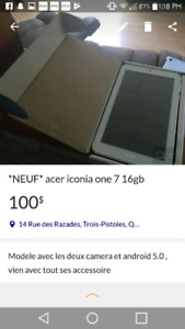 *neuf* acer iconia one 7 16gb