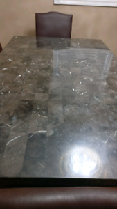 6-seater solid marble dining table for sale