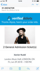 2 Xavier Rudd tickets June 29