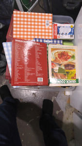 Toat full of cook books.