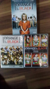 DVD tv shows,  Breaking Bad  ,Orange is NewBlack,  Prisoner, V,