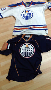 2 XL Oilers jerseys- Nuge and Ebs