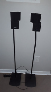 Bose double cubes with Bose stands