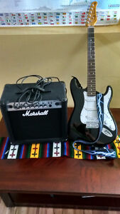 Marshall Amp and  Jay Turrser Electric guitar together