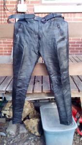 Pantalon de moto en cuir taille 36 jambes longues Leather pants