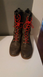 Size 9 mid-calf, leather boots