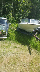 Late 70s fibreform boat with 115 hp mercury