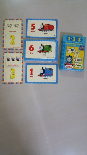 Thomas & friends learning wipe off cards