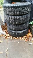 4 BFGoodrich Winter Slalom Snow Tires on Rims