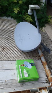Shaw satellite dish with receiver