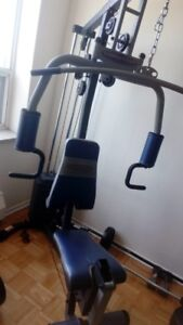 Gym Equipment (Mint Condition) + Bench (York 7700) for SALE !!