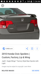 2006 - 2011 honda civic factory Spoiler