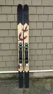 4FRNT Raven skis with Tyrolia touring bindings