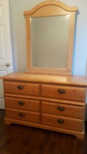 Two (2) pine dressers;