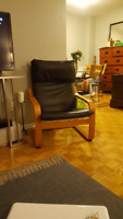 Lounge chair in Black and Brown