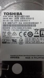 2,5'' HDD Toshiba 1000GB pour portable 1Tb ou Seagate 500gb neuf