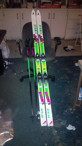 Skis With Poles and Boots