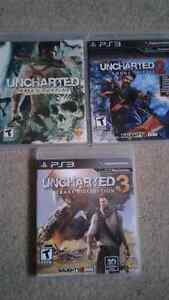 Set of 3 Uncharted games