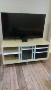 TV Stand and Matching Wall Shelf