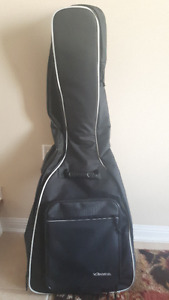 Black guitar case with straps & guitar lesson book with cd
