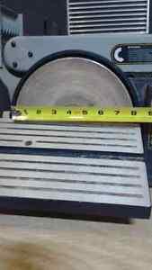 """8 """" disk 4"""" belt sander and sanding disks  40 and 80 grit"""