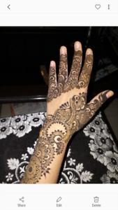 Henna artist.