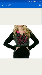 Metal  Mulisha Leopard SZ small Jacket Sweater NEW