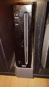 Wii with games and accessories