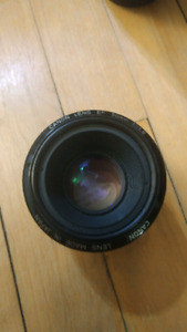 Canon 50mm F1.8 MKI (Metal mount with distance scale)