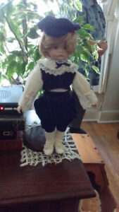 "18"" Porcelain Boy Doll-Collectible--$15."