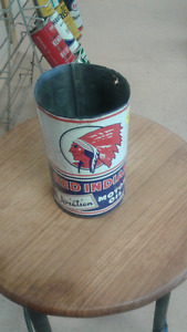 Red Indian Aviation oil can