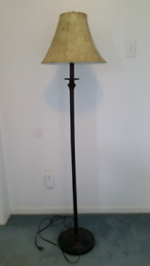Floor Lamp and Shade - Brown