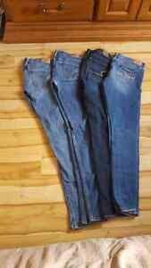 7 pairs of jeans.  Size 0
