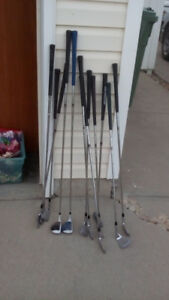 Golf Irons - most right handed: one 9 iron left handed