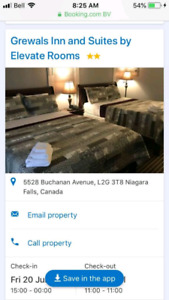 2 nights in Niagara falls $250 Friday and Saturday night