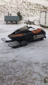 Trade snowmobile for boat