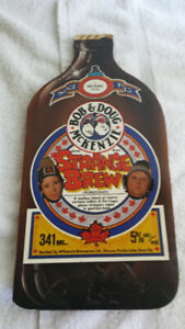 bob & doug mckenzie strange brew collectible book.