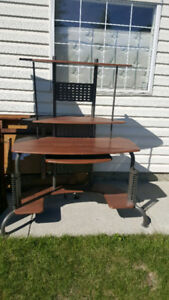Computer table $50 cabinet $80