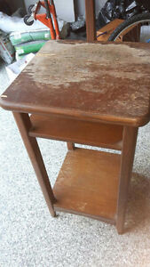 Mini Bureau en bois de chene solide / Solid Oak Antique Desk