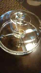 Mikasa Punch Bowl and Dip Tray