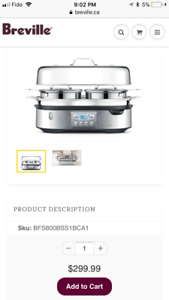 Breville Stream Zone -Used Once