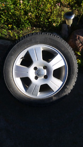 Hancook I-pike 205 55 16 with ford focus rims 400 obo